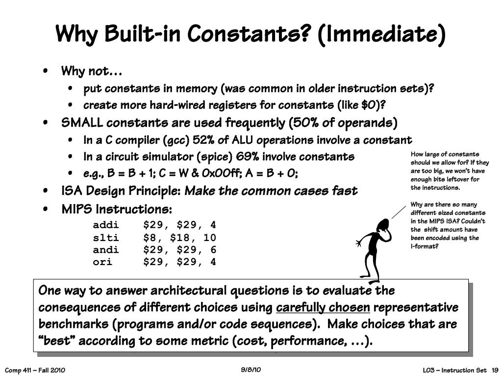 Why Built-in Constants? (Immediate)