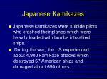 japanese kamikazes