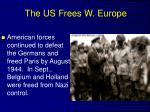 the us frees w europe