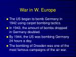 war in w europe