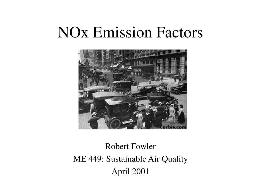 NOx Emission Factors