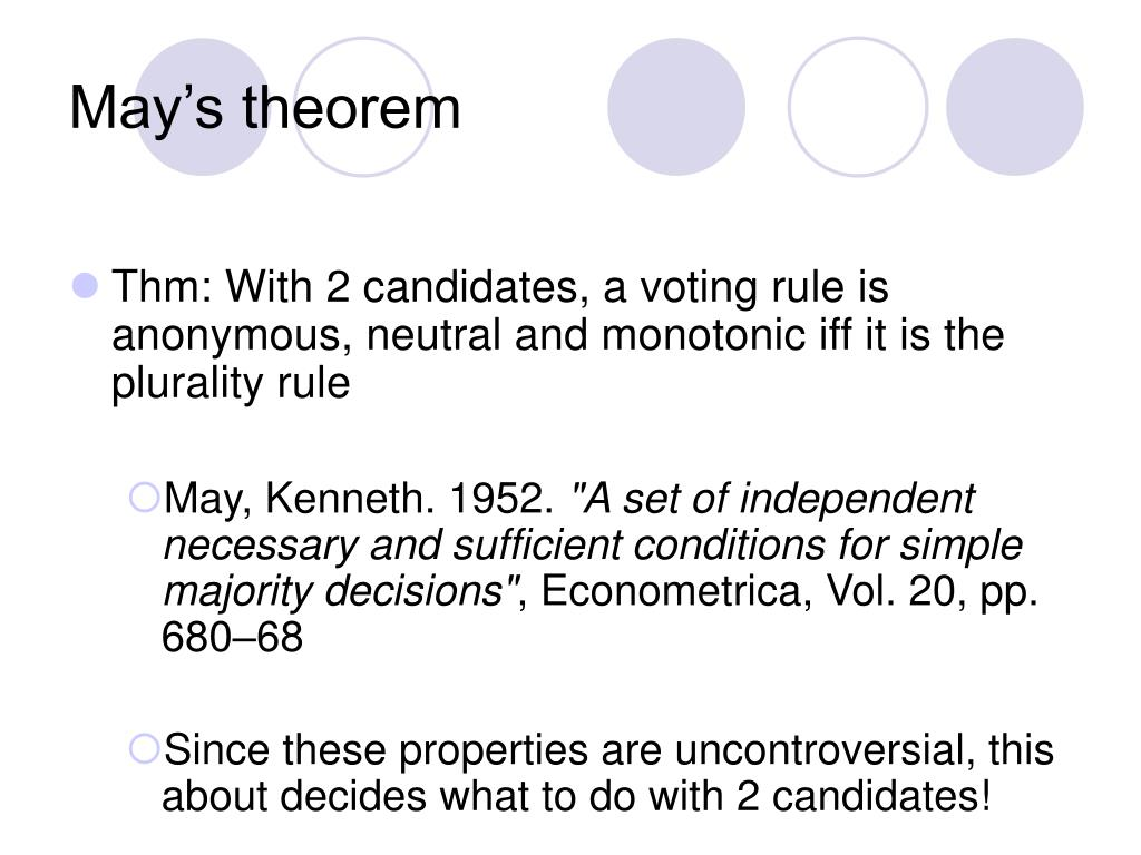 May's theorem
