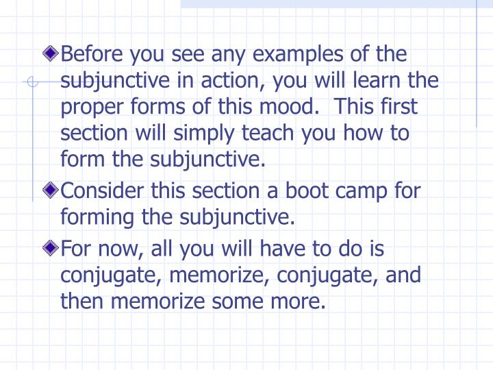 Ppt How To Form The Subjunctive Mood Powerpoint Presentation Id