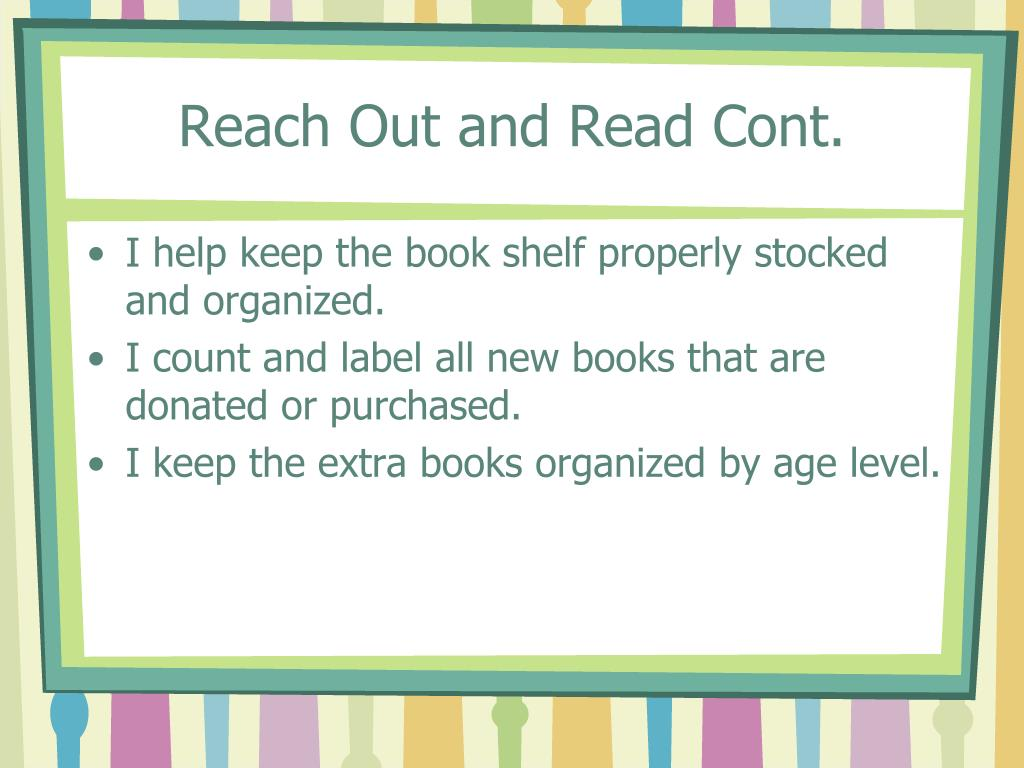 Reach Out and Read Cont.