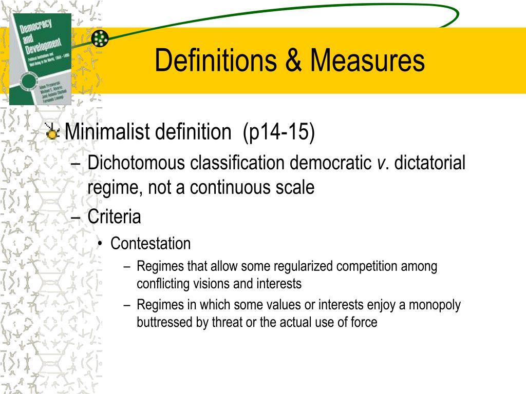 Definitions & Measures