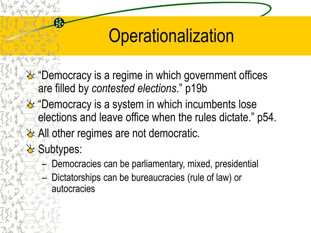 Operationalization