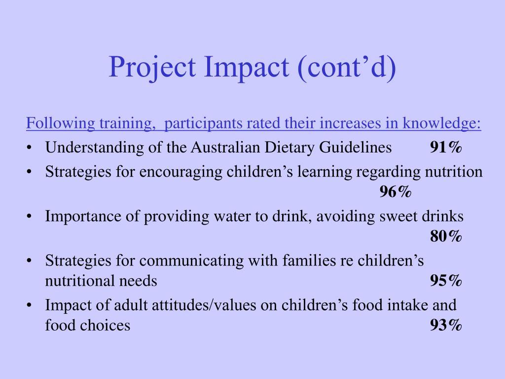 Project Impact (cont'd)