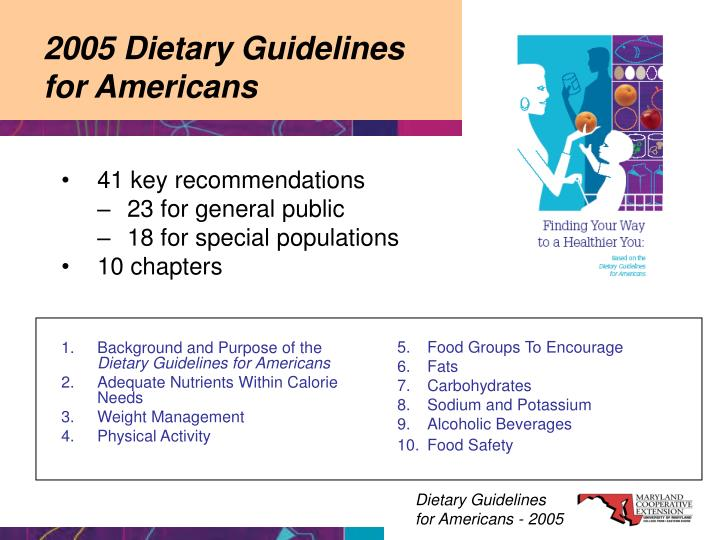 2005 dietary guidelines for americans