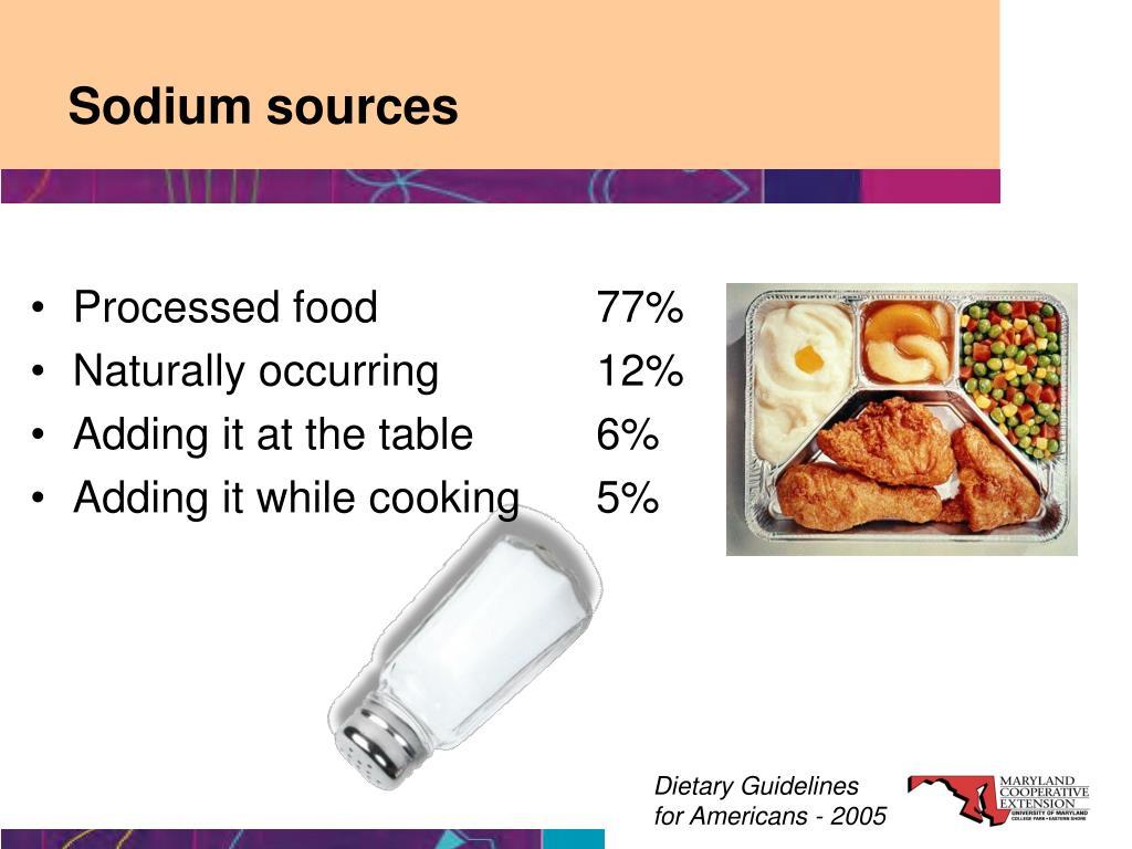 Sodium sources