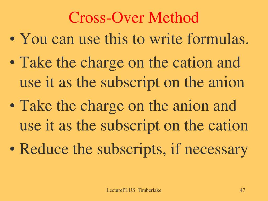 Cross-Over Method