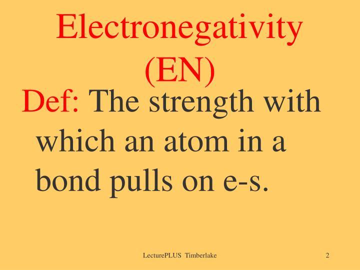 Electronegativity en