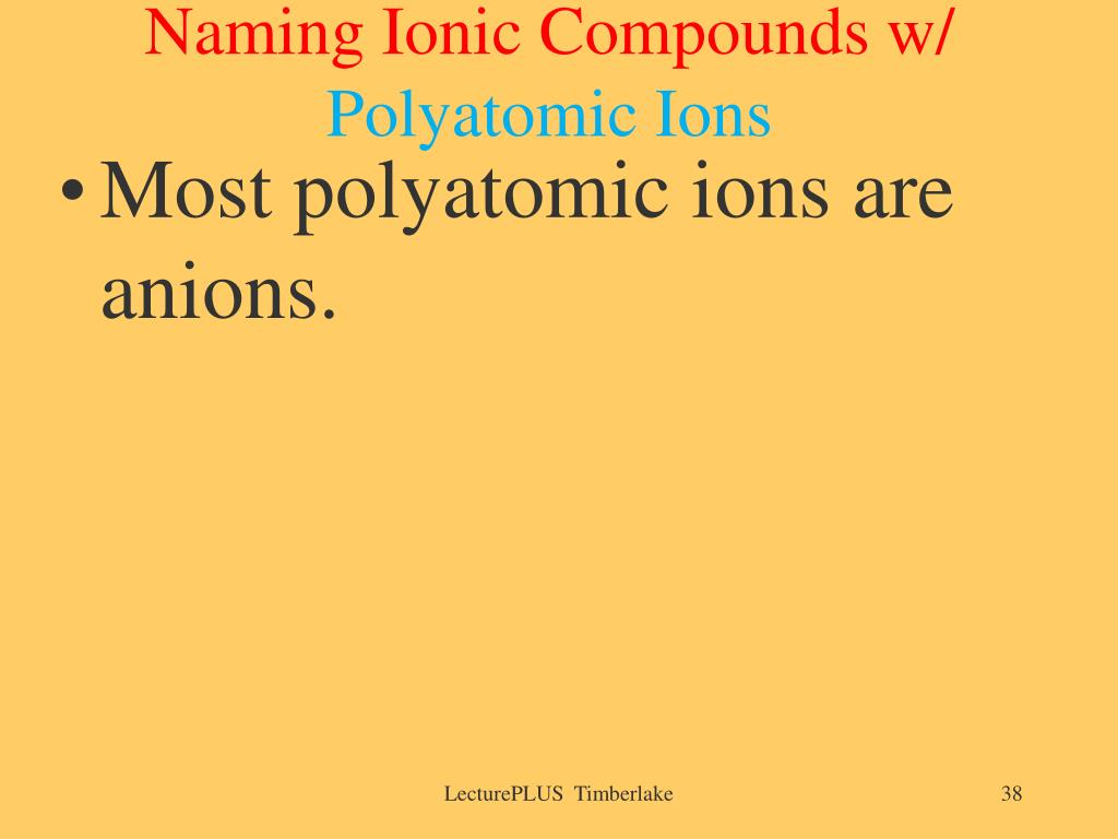 Naming Ionic Compounds w/