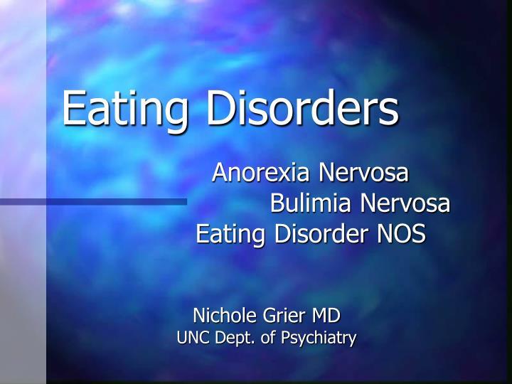 eating disorders n.