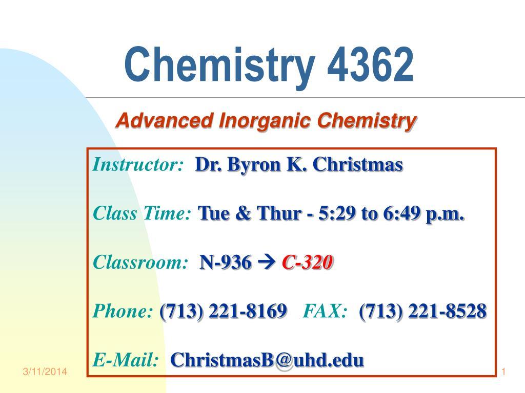 chemistry 4362 l.