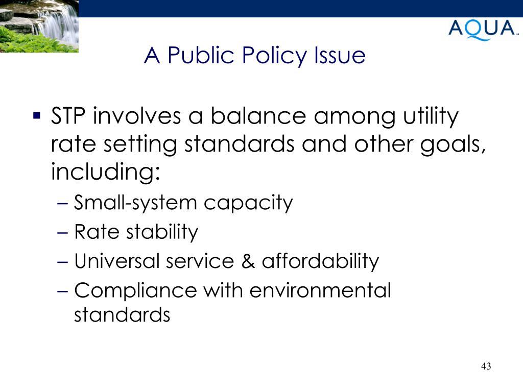 A Public Policy Issue