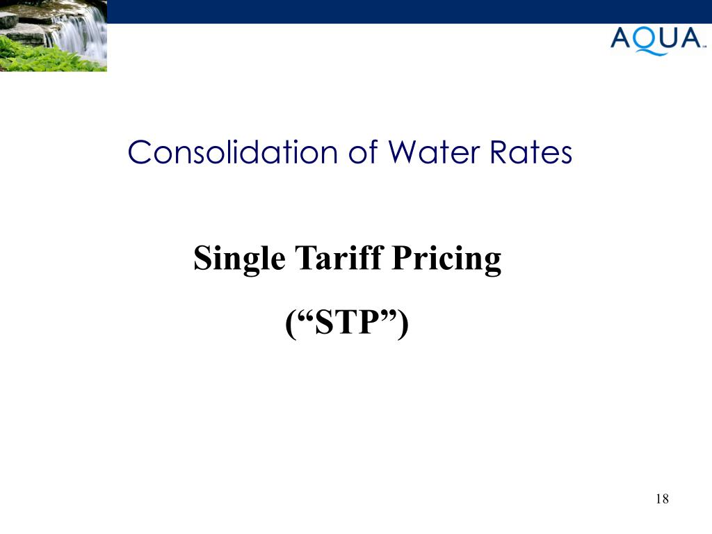 Consolidation of Water Rates