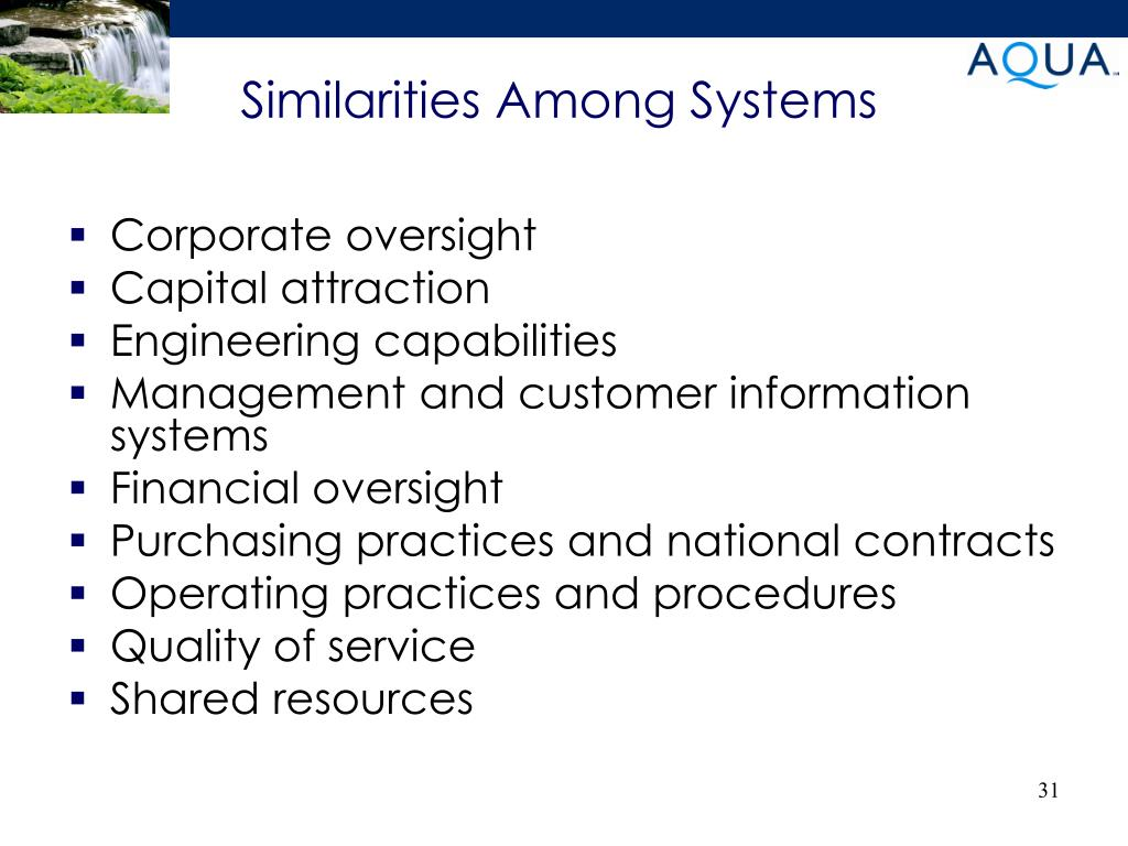 Similarities Among Systems