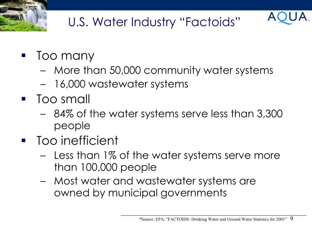 """U.S. Water Industry """"Factoids"""""""