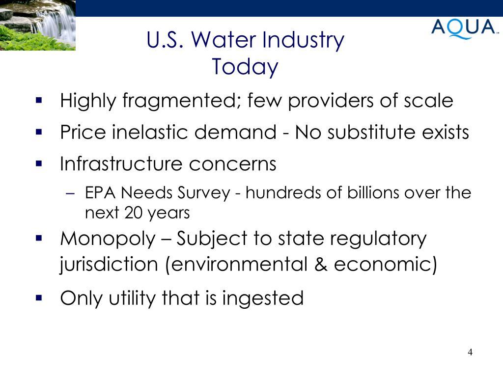 U.S. Water Industry Today