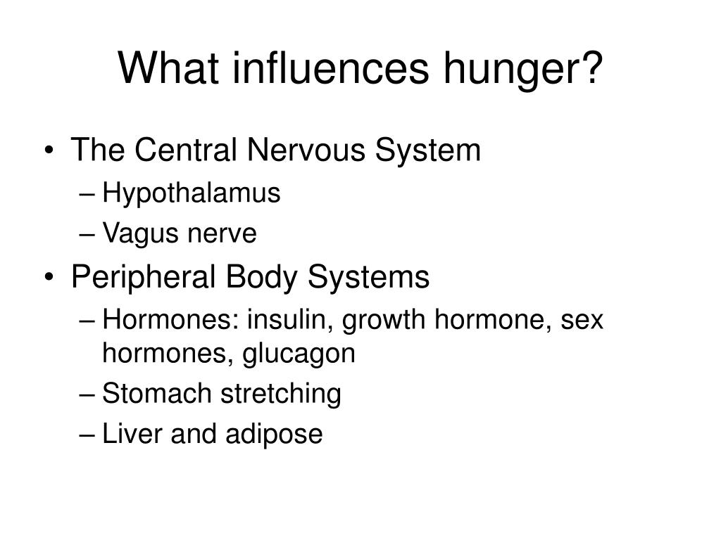 What influences hunger?