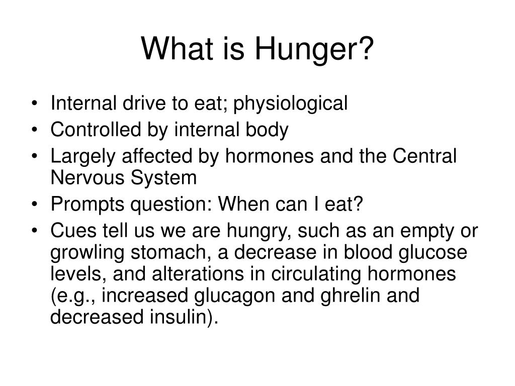 What is Hunger?