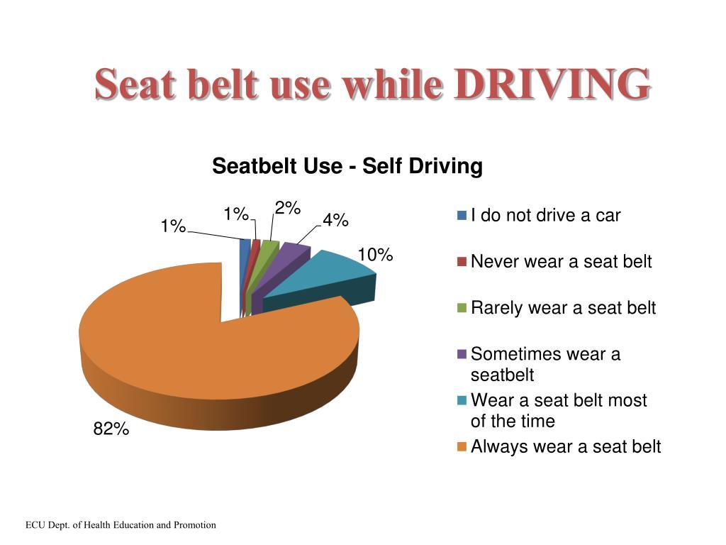 Seat belt use while