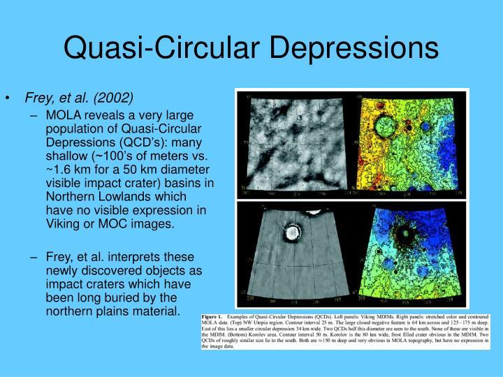 Quasi-Circular Depressions