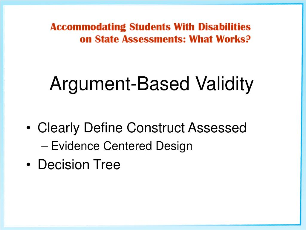 Argument-Based Validity