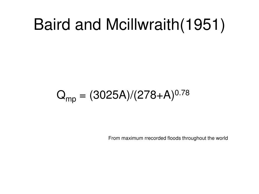 Baird and Mcillwraith(1951)