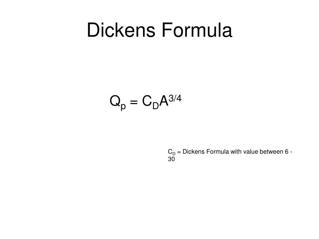 Dickens Formula
