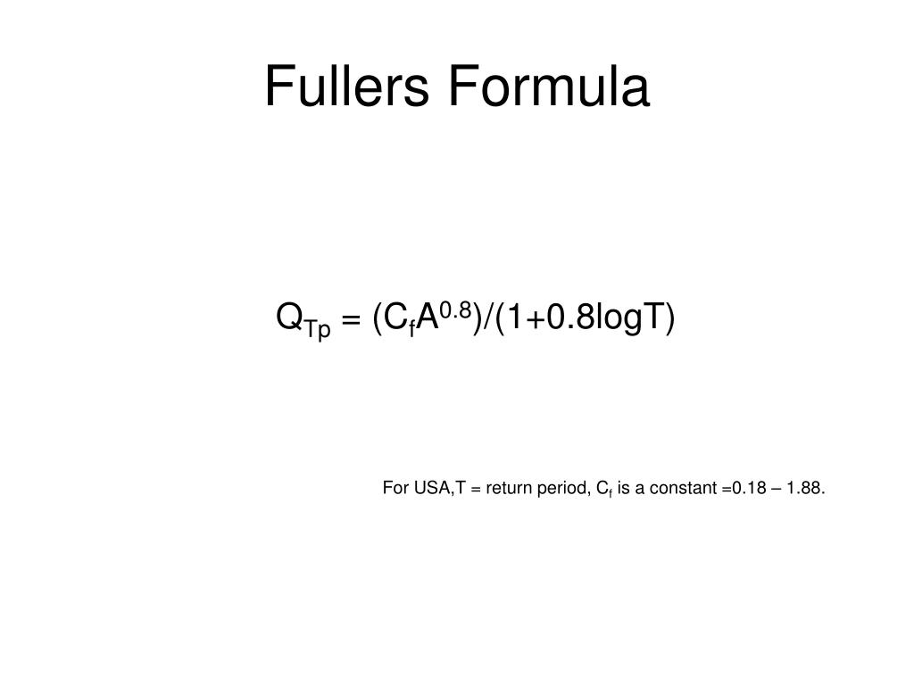 Fullers Formula