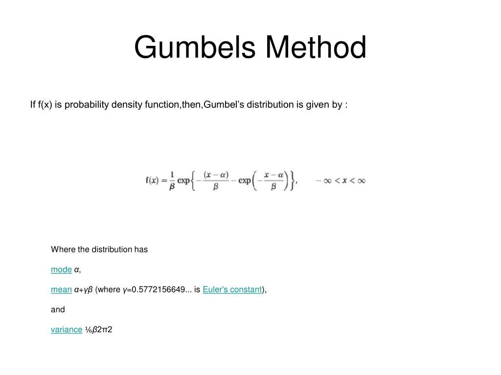 Gumbels Method