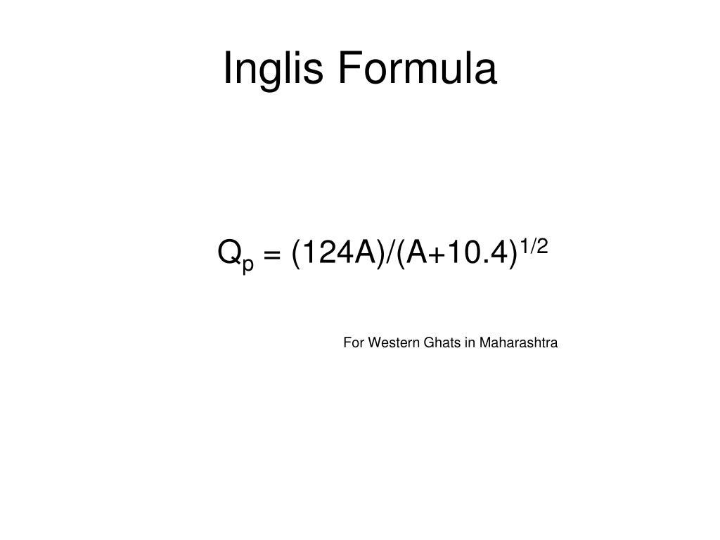 Inglis Formula