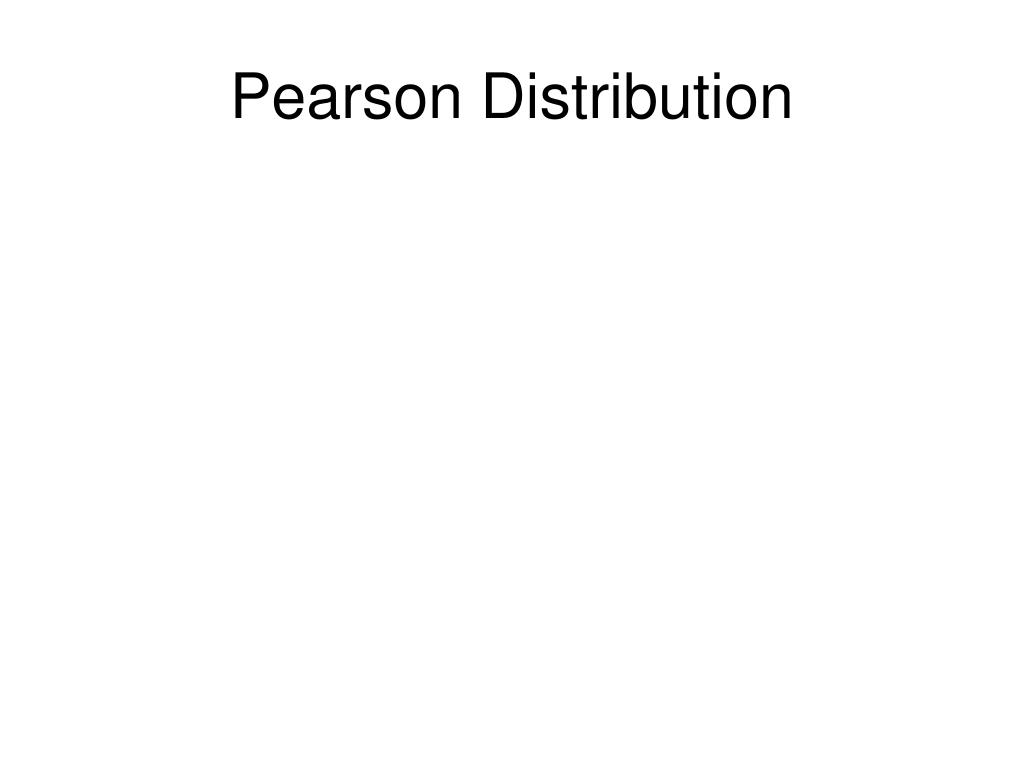 Pearson Distribution