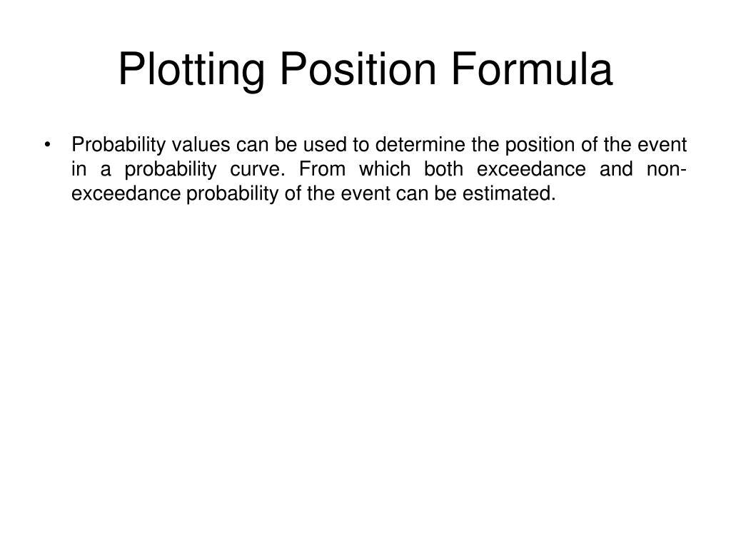 Plotting Position Formula