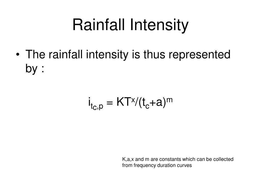 Rainfall Intensity