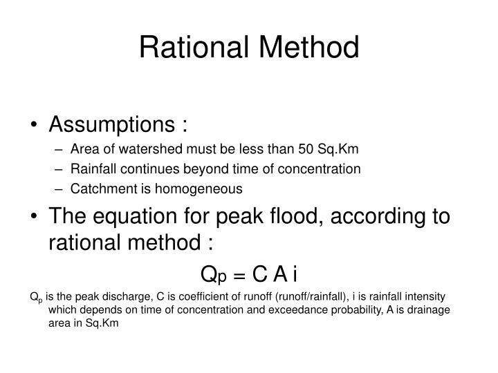 Rational method