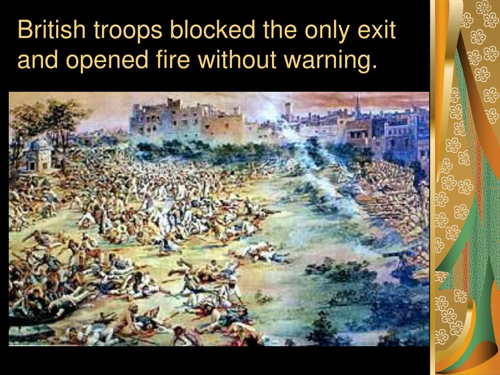 British troops blocked the only exit and opened fire without warning.