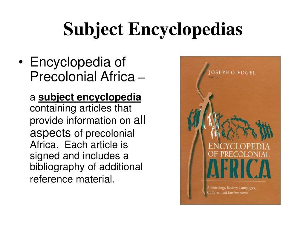 Subject Encyclopedias