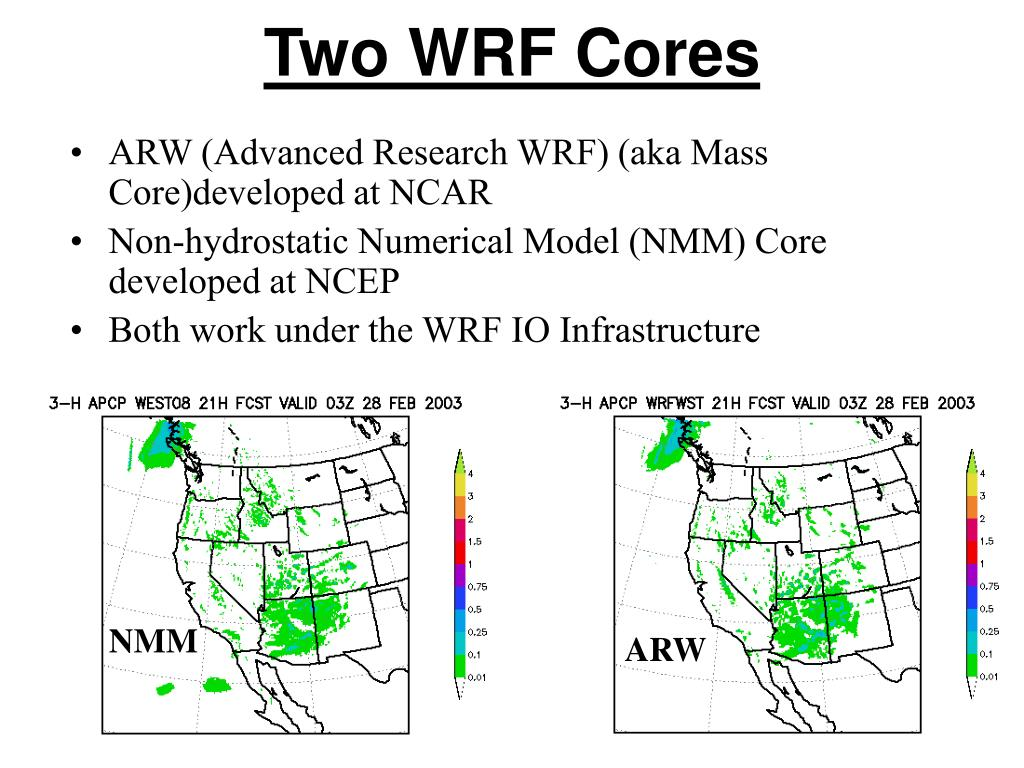 Two WRF Cores