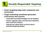 socially responsible targeting
