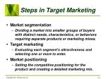 steps in target marketing