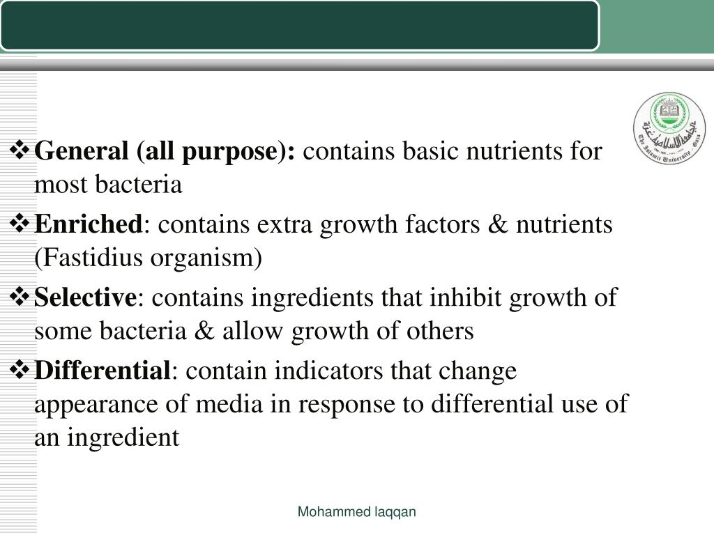 Media for Isolation of Microbes
