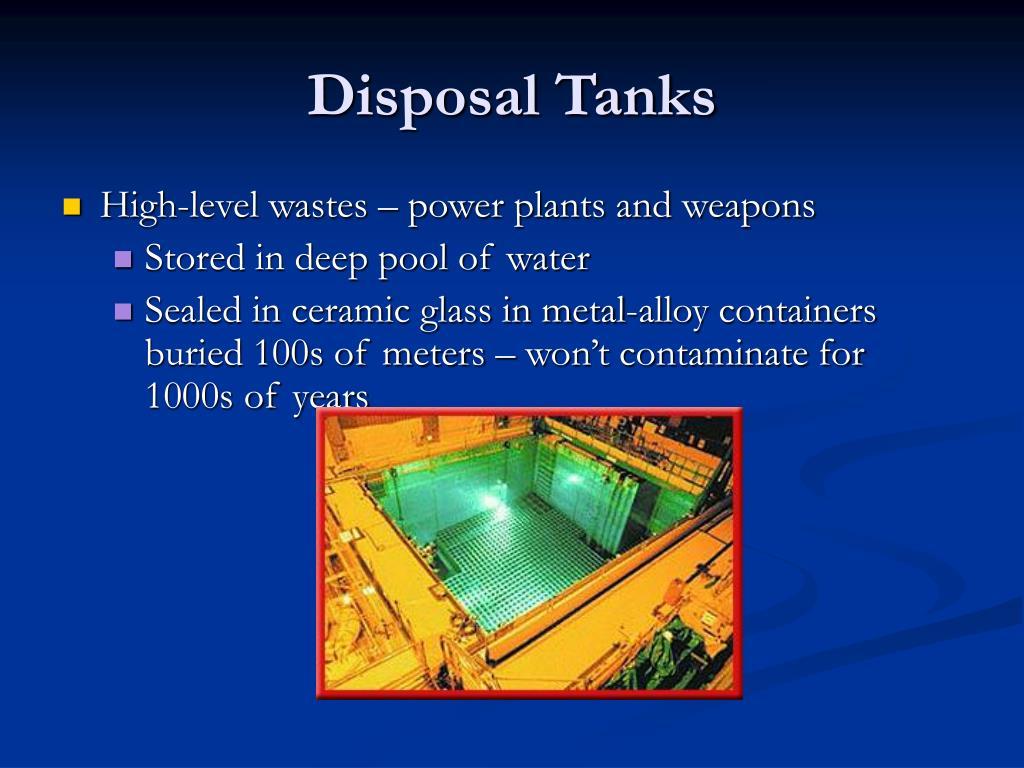 Disposal Tanks