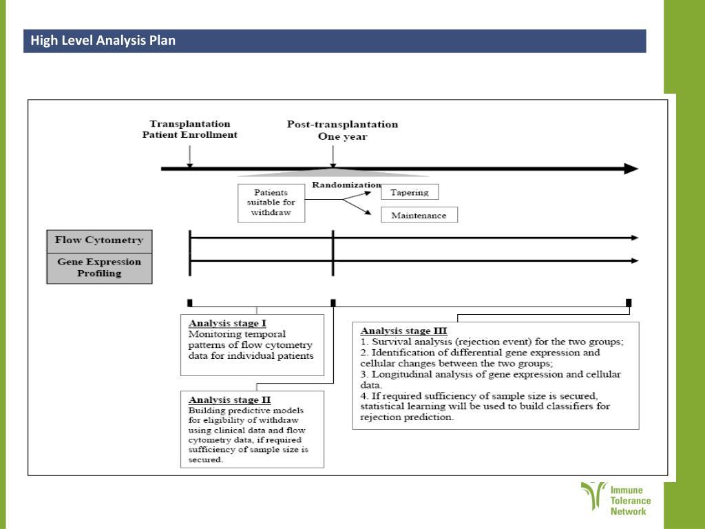 High Level Analysis Plan