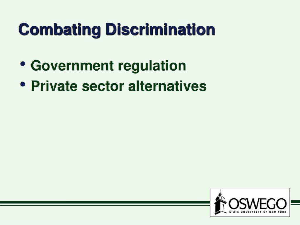 Combating Discrimination
