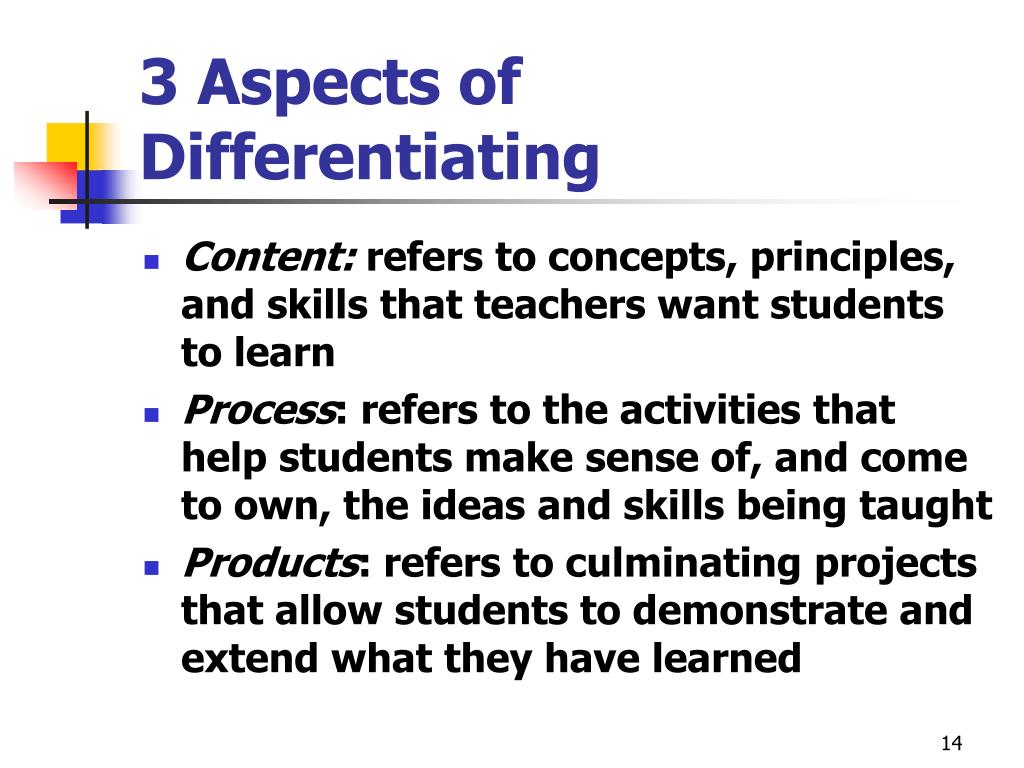 3 Aspects of Differentiating