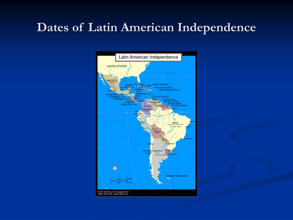 Dates of Latin American Independence