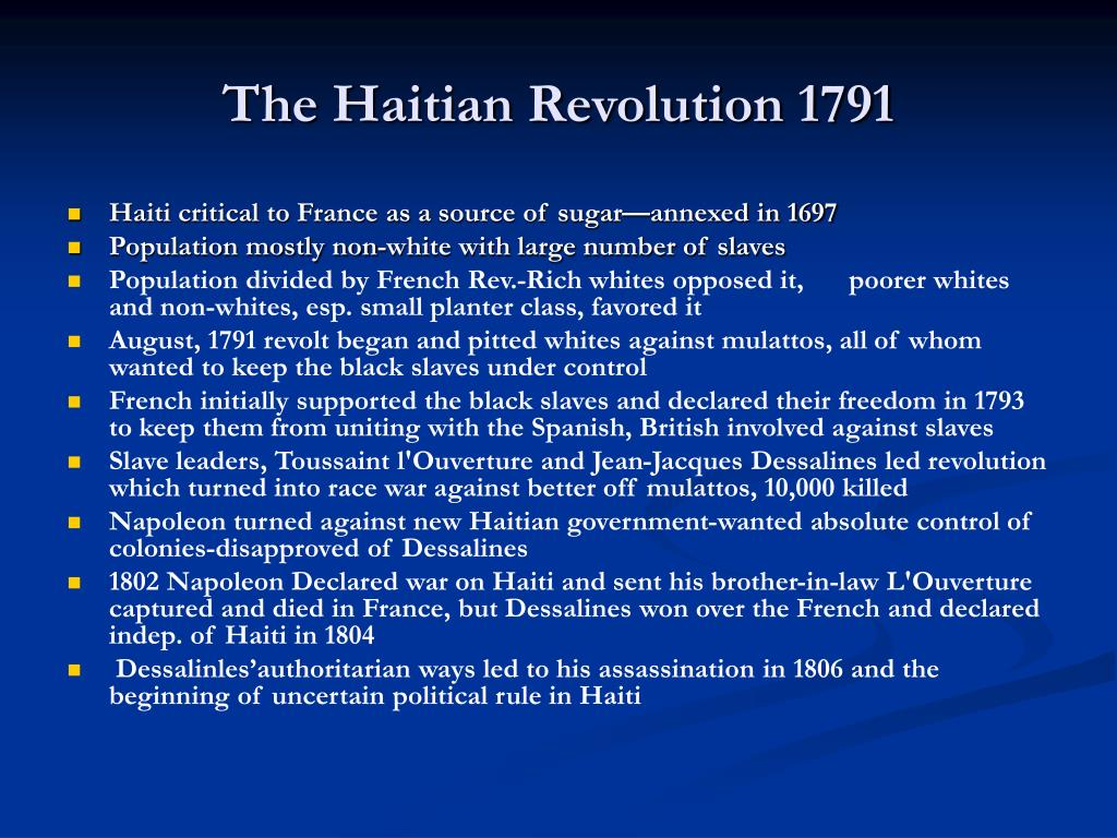 The Haitian Revolution 1791