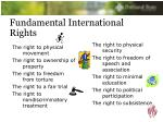 fundamental international rights